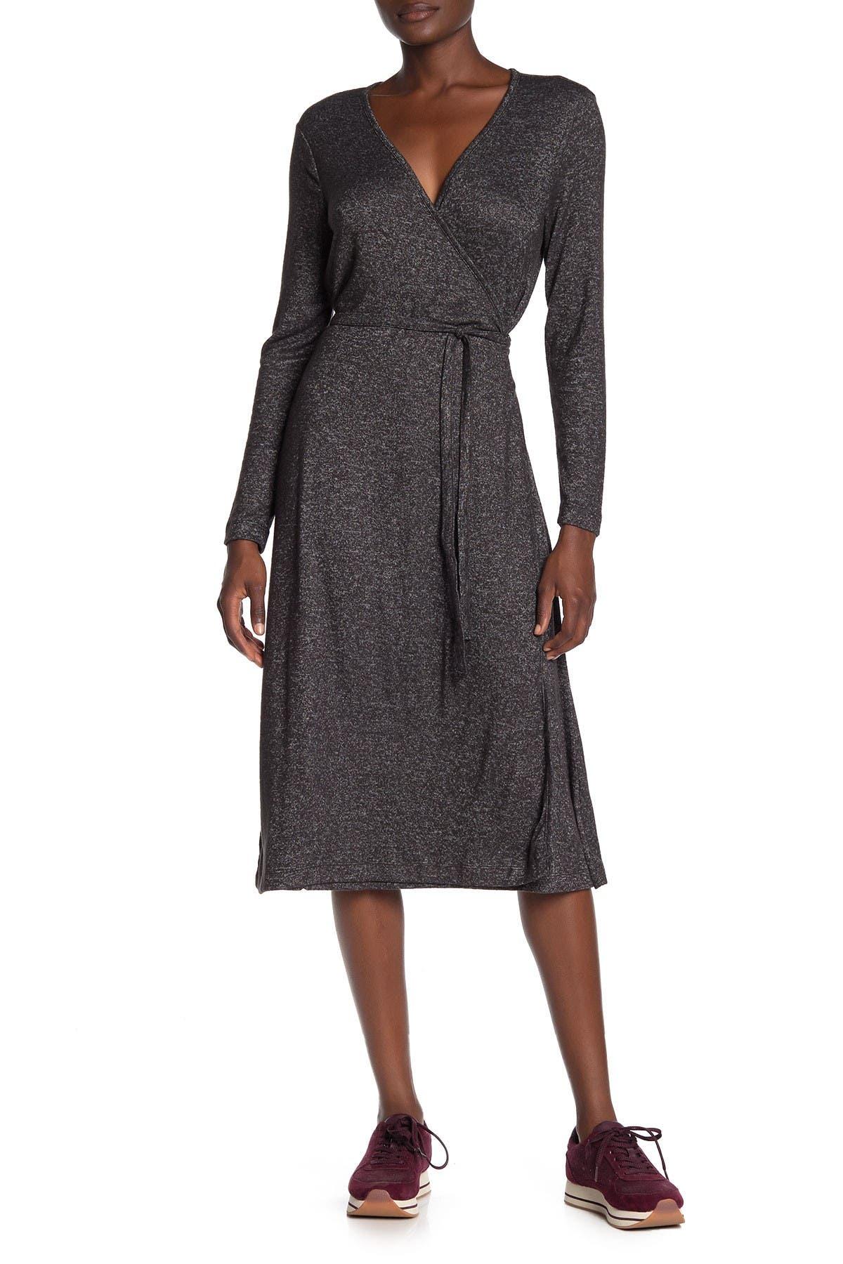 Image of SUSINA Faux Wrap Cozy Knit Dress