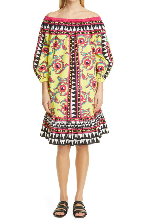 La Doublej Cottons PALOMA OFF THE SHOULDER COVER-UP DRESS