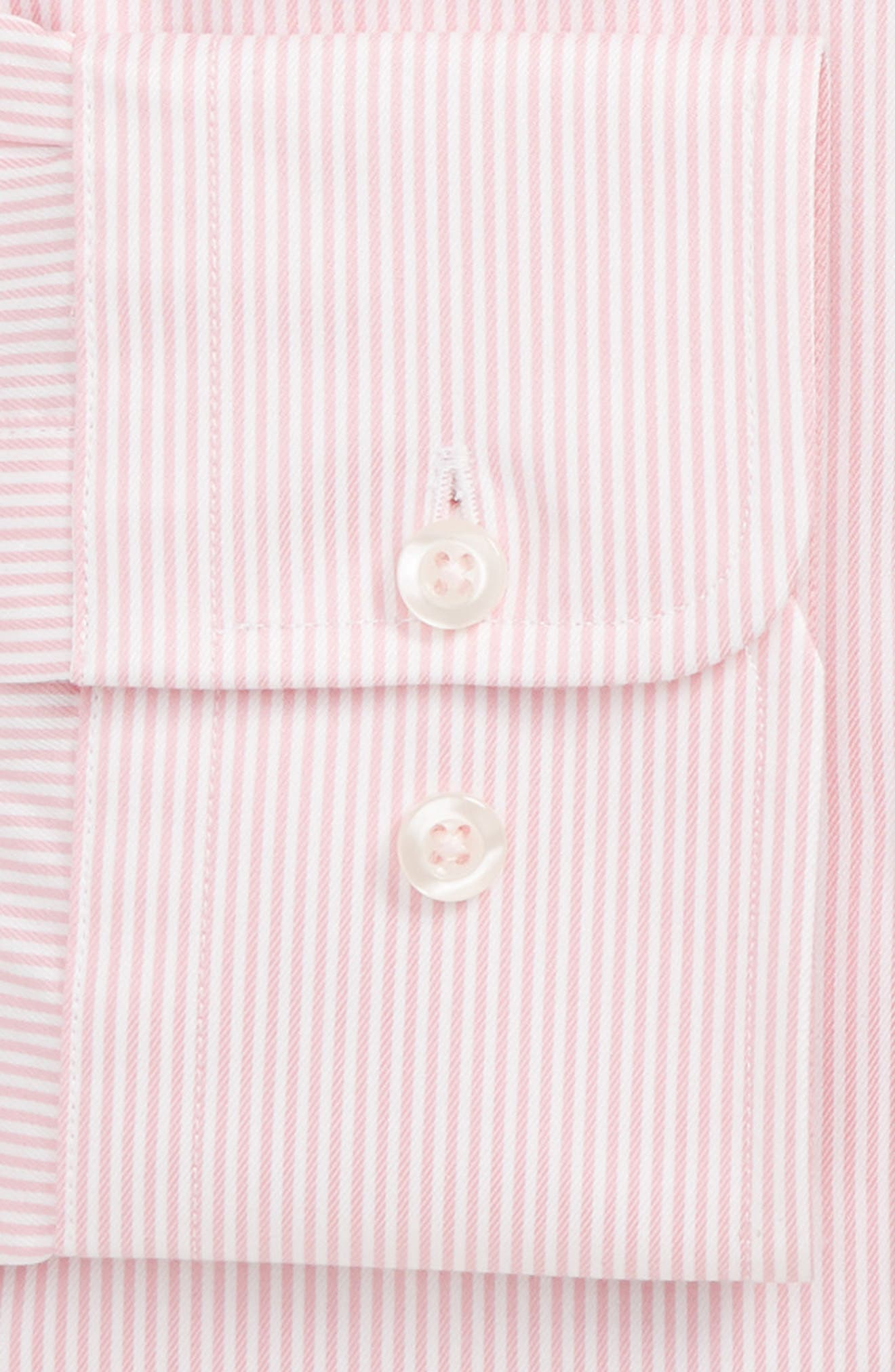 ,                             Regular Fit Stripe Dress Shirt,                             Alternate thumbnail 4, color,                             650