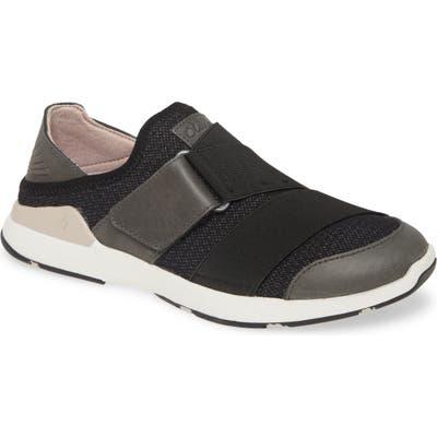 Olukai Mikilua Kakoo Slip-On Sneaker, Black