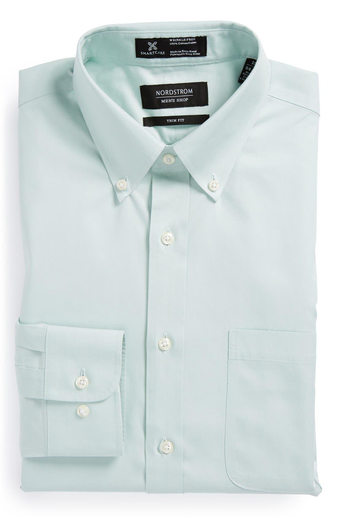 ,                             Smartcare<sup>™</sup> Trim Fit Solid Dress Shirt,                             Main thumbnail 8, color,                             020