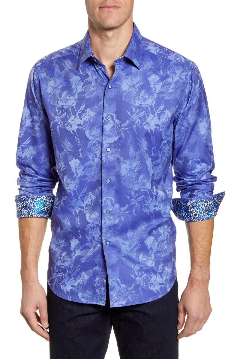 ROBERT GRAHAM Rose Classic Fit Button-Up Sport Shirt, Main, color, 400