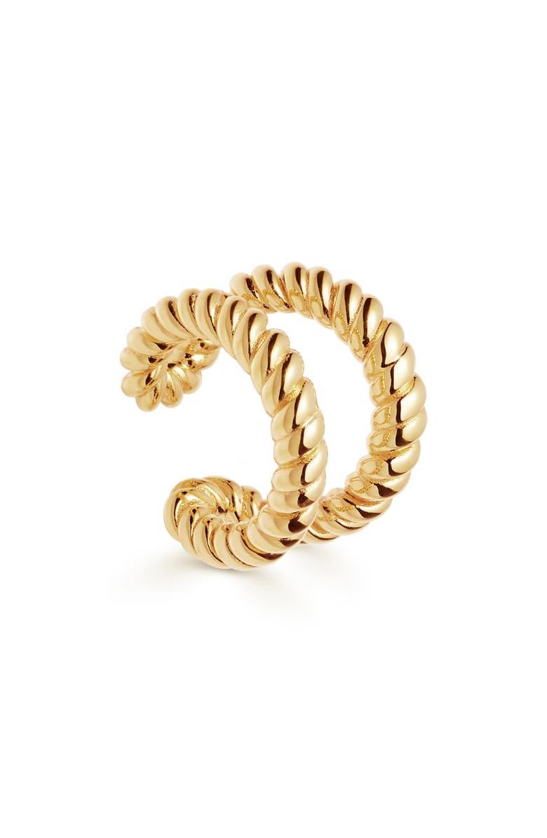 MISSOMA Tidal Ear Cuff, Main, color, GOLD