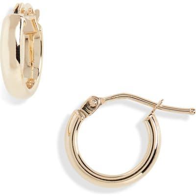 Bony Levy Beveled Edge Huggie Hoop Earrings (Nordstrom Exclusive)