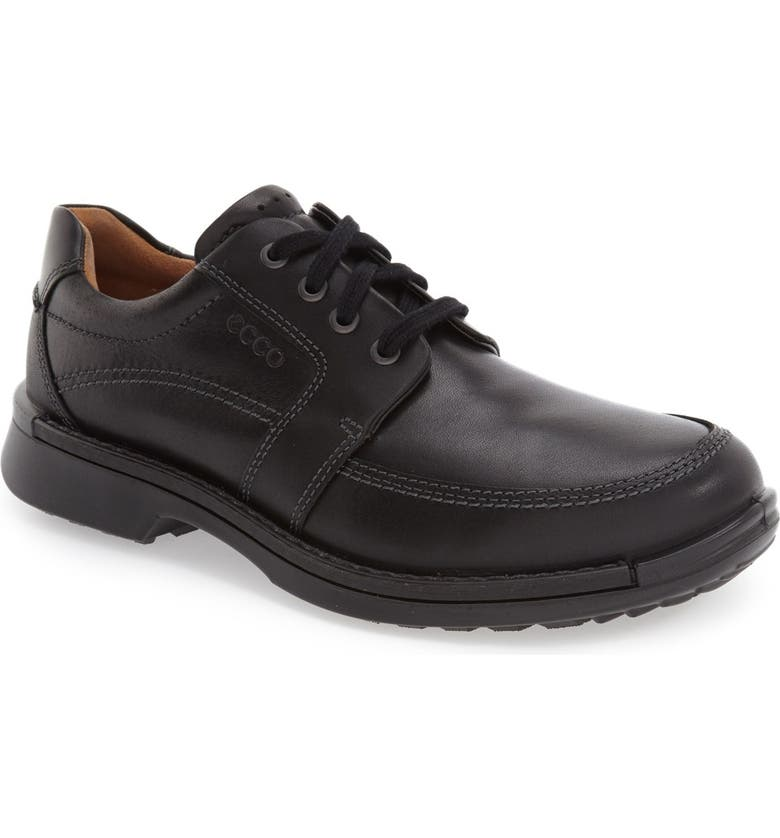 ECCO 'Fusion II' Apron Toe Derby, Main, color, BLACK LEATHER