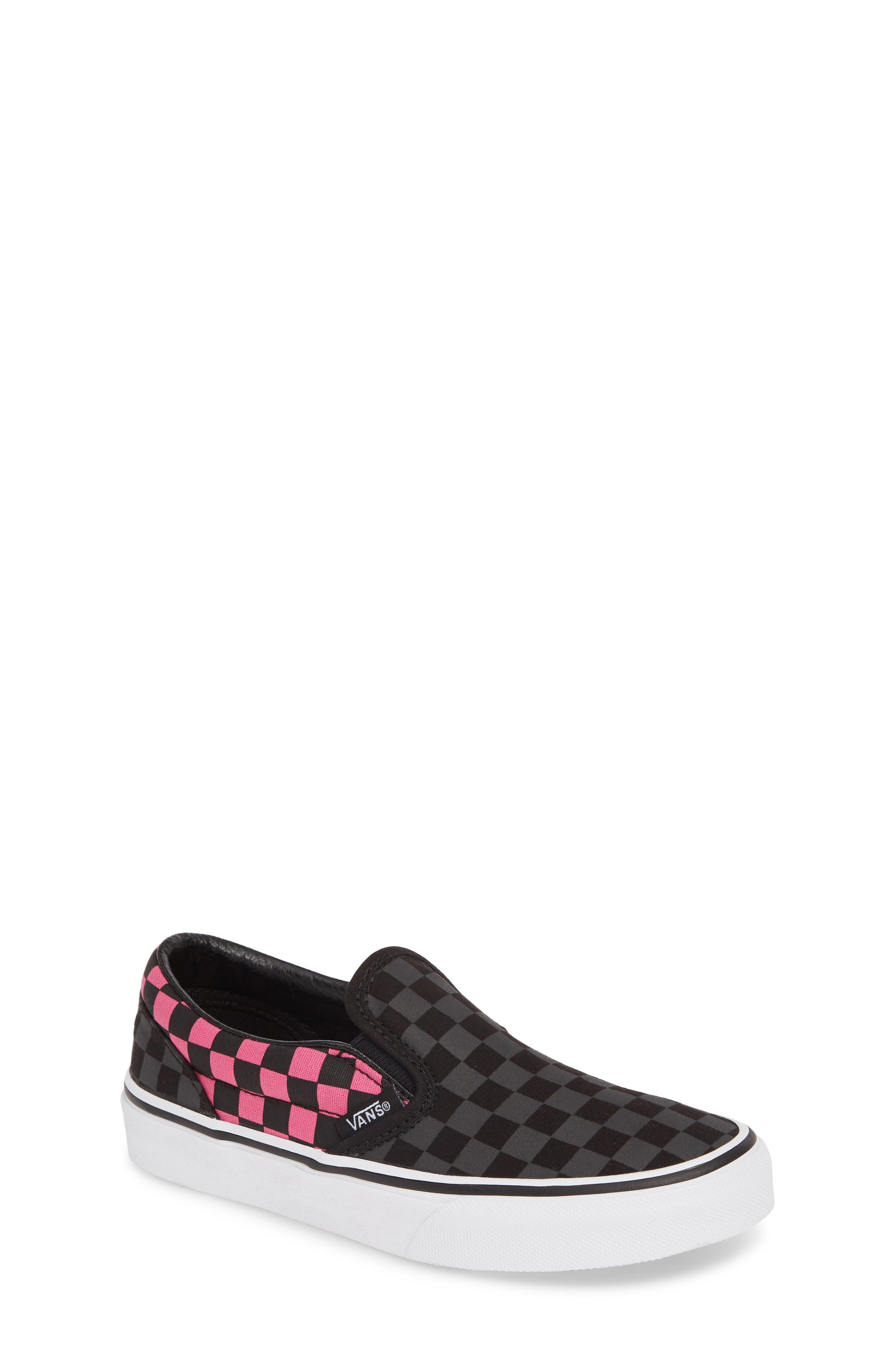 Classic Checker Slip-On, Main, color, CARMINE ROSE/ BLACK