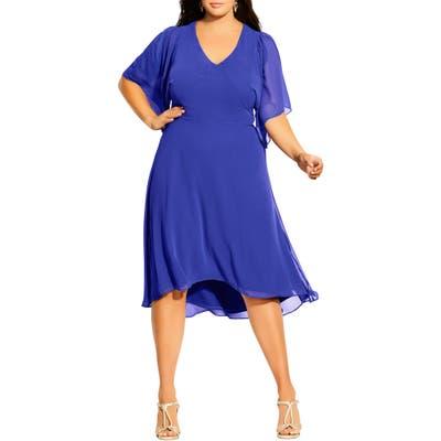 Plus Size City Chic Adore High/low Dress, Blue