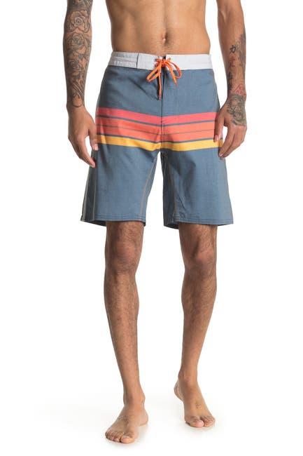 Image of Burnside Stripe Printed Stretch Board Shorts