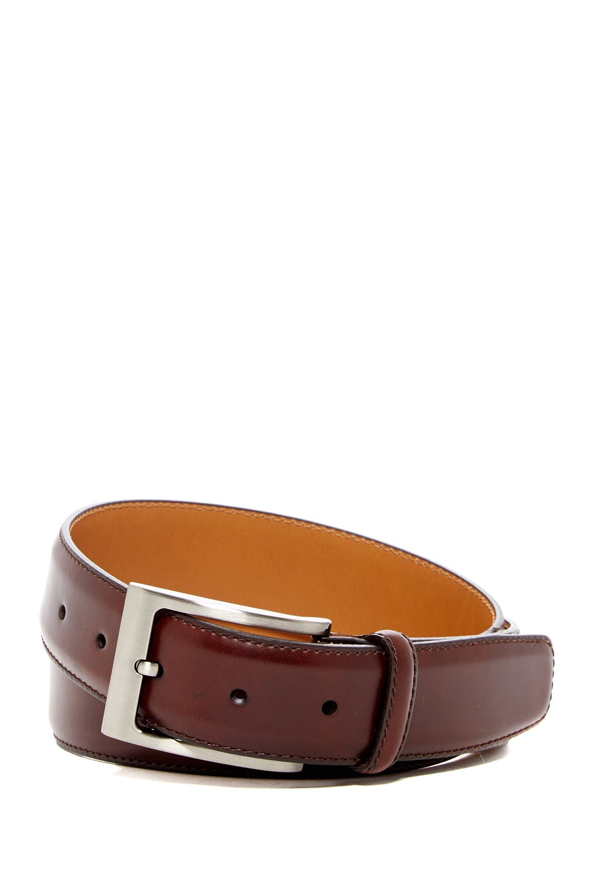 Image of Magnanni Square Buckle Leather Belt