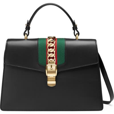 Gucci Top Handle Leather Shoulder Bag -