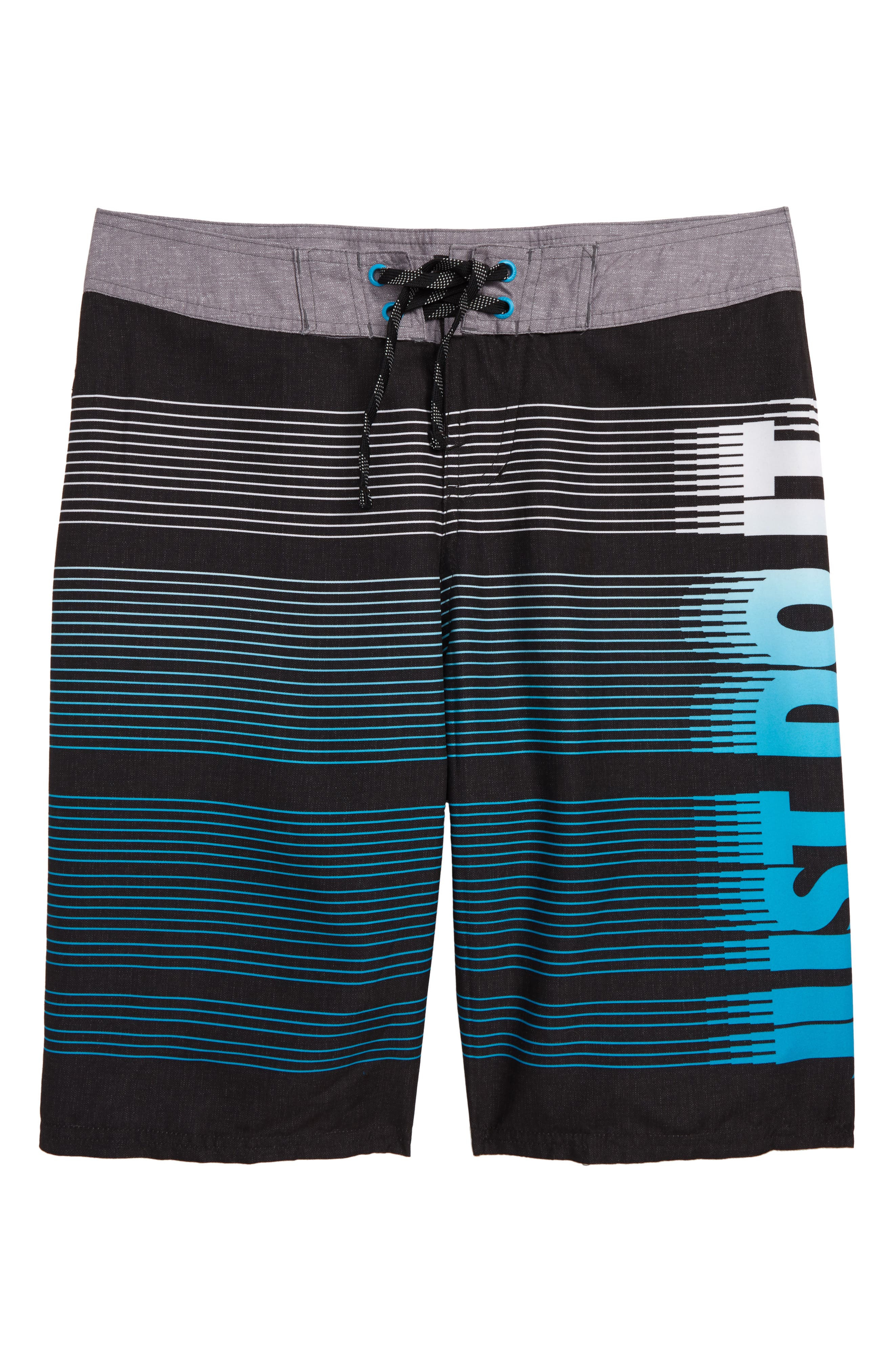 Just Do It Drift Board Shorts, Main, color, BLACK