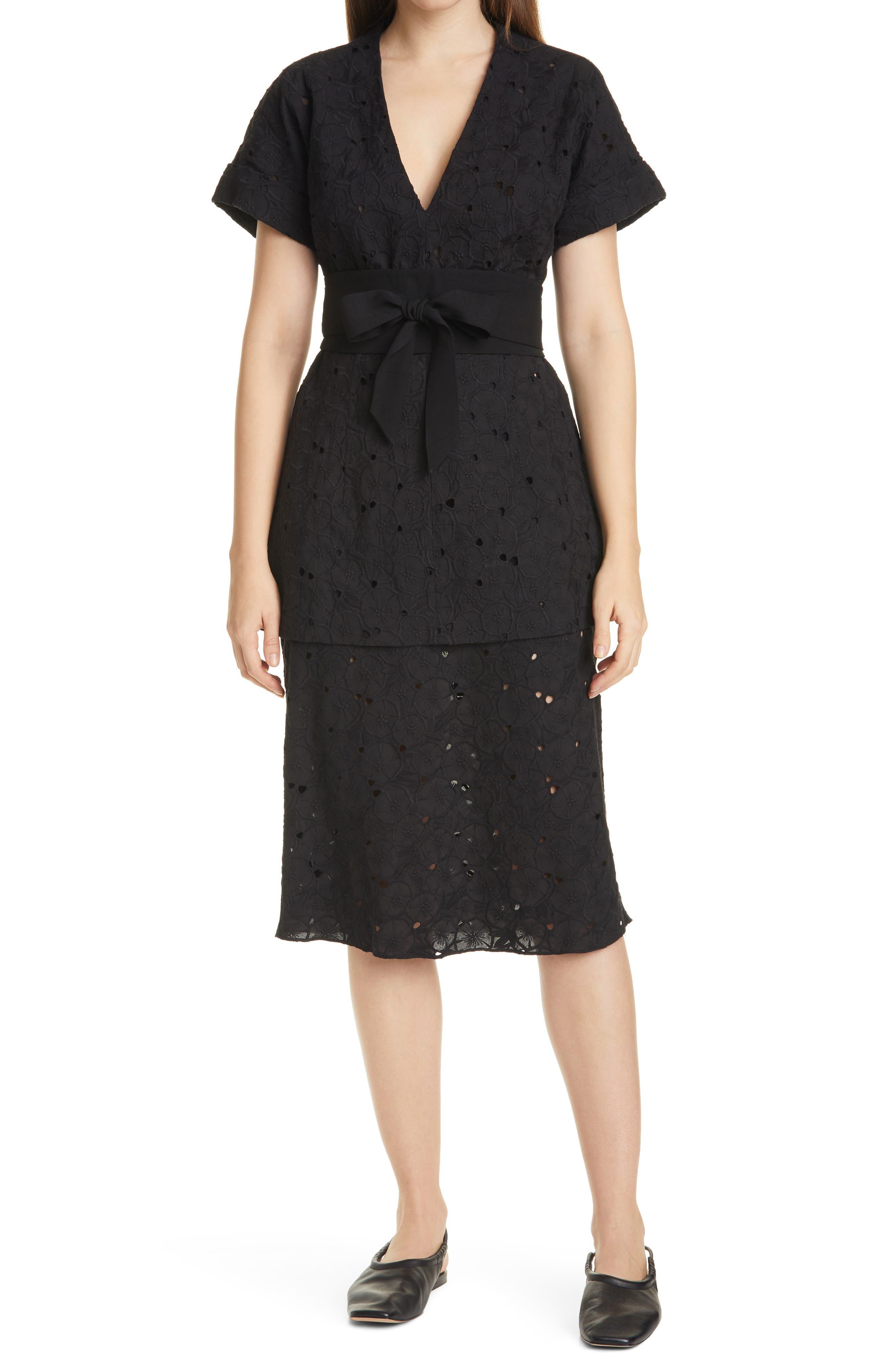 V-Neck Tunic Midi Dress