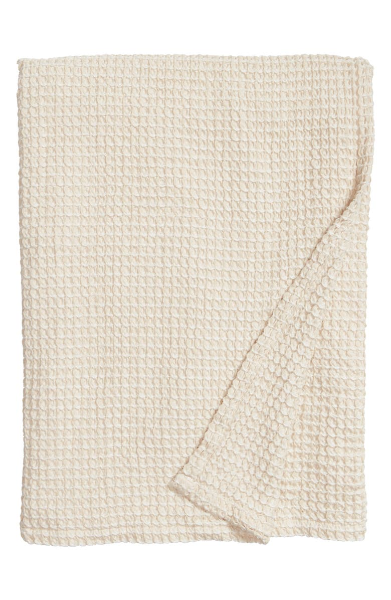 TREASURE & BOND Waffle Knit Blanket, Main, color, BEIGE BEACH