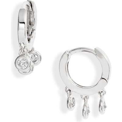 Nordstrom Crystal Drop Huggie Hoop Earrings