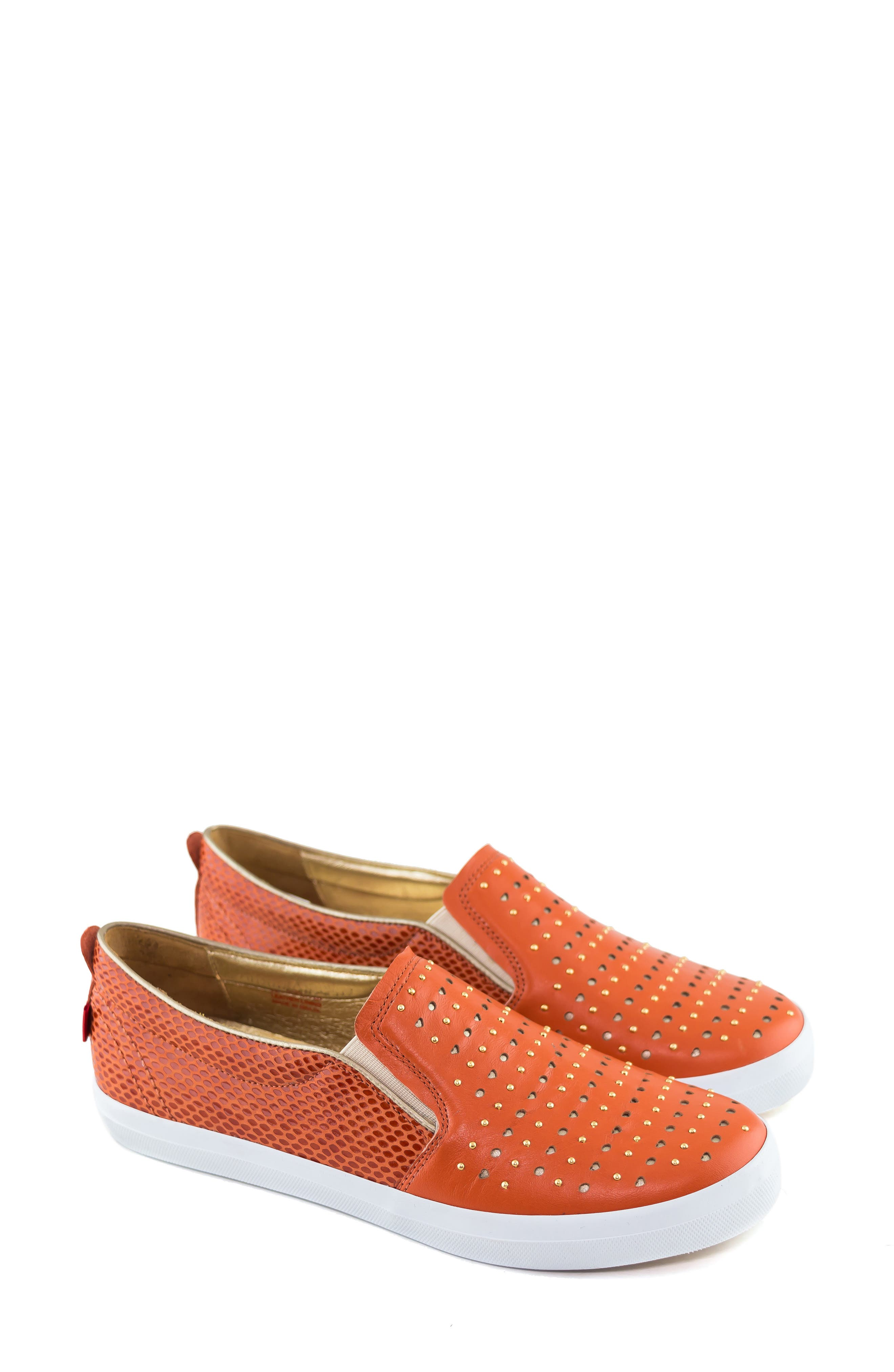 ,                             Soho Sneaker,                             Alternate thumbnail 7, color,                             CORAL LEATHER