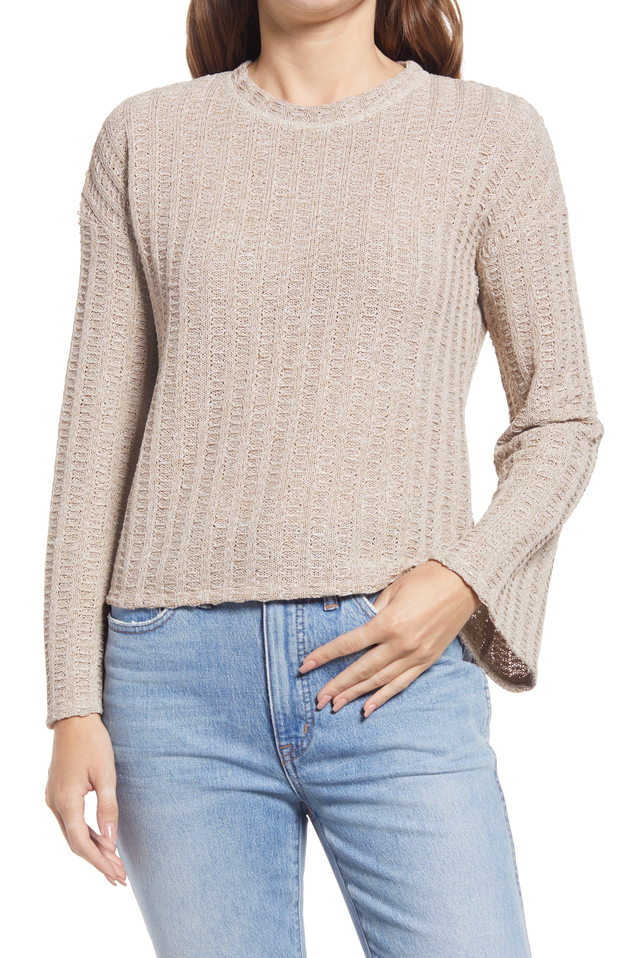 Melange Flare Sleeve Sweater