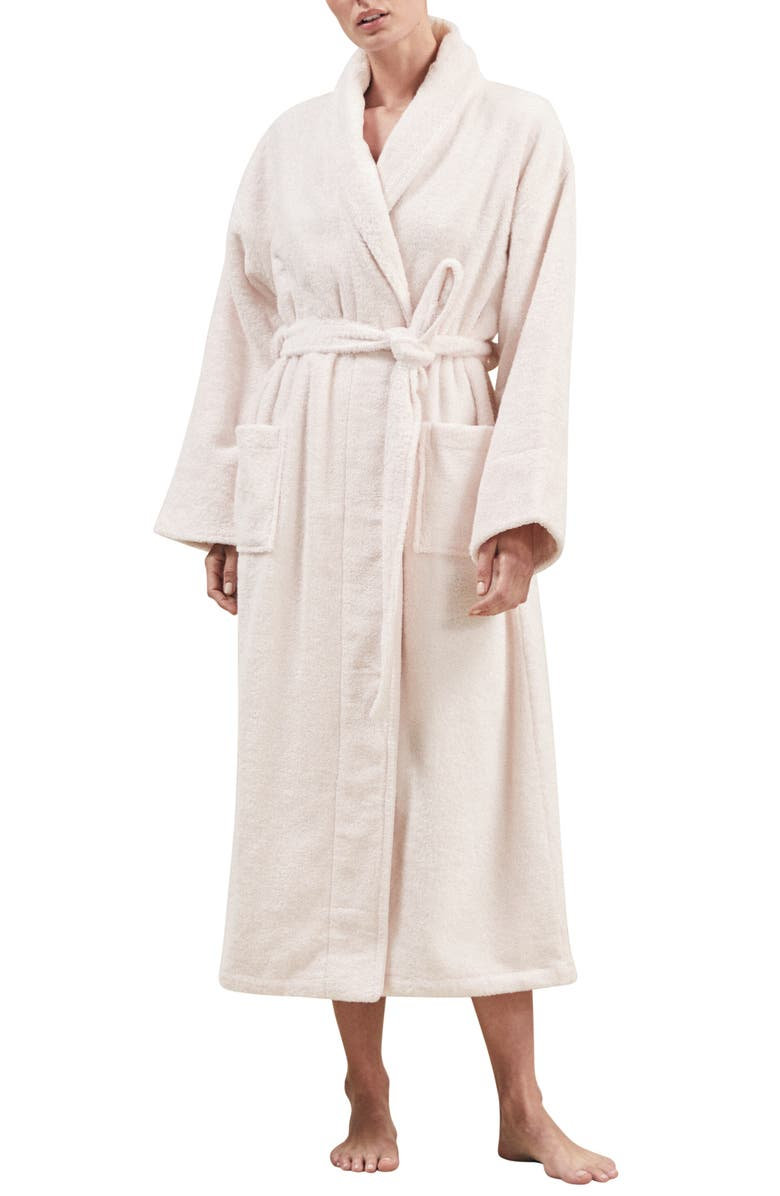 THE WHITE COMPANY Unisex Classic Cotton Robe, Main, color, 650