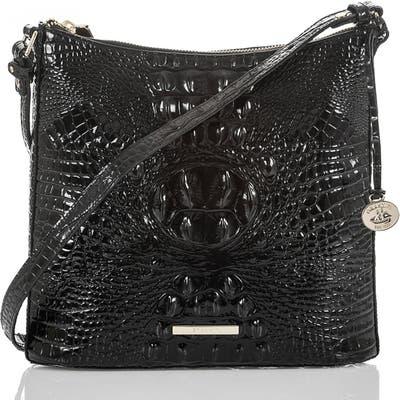 Brahmin Katie Croc Embossed Leather Crossbody Bag - Brown