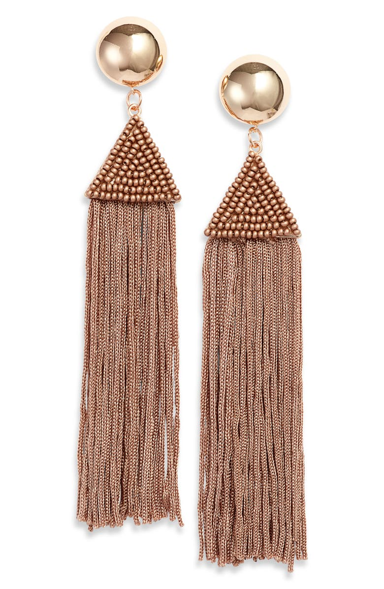 KNOTTY Fringe Drop Earrings, Main, color, 200
