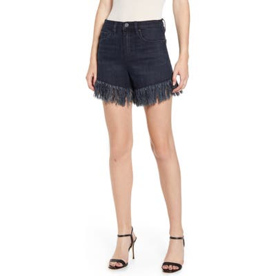 Blanknyc Fray Hem Denim Shorts, Black