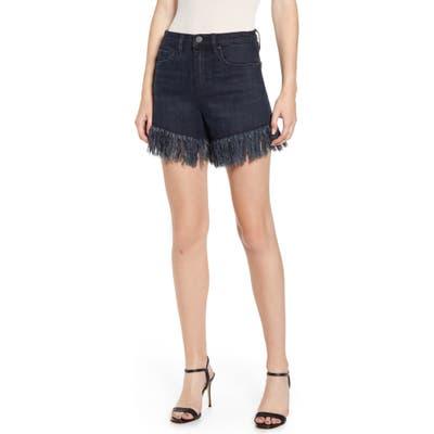 Blanknyc Fray Hem Denim Shorts, 7 - Black