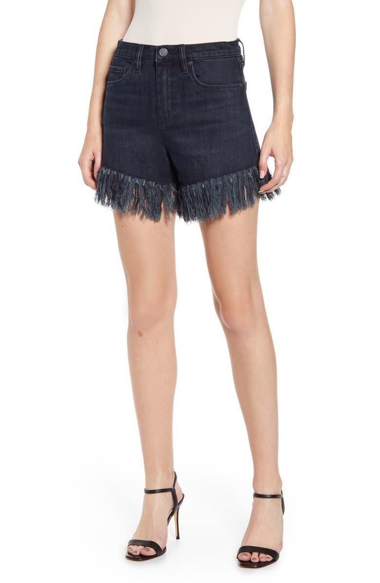 BLANKNYC Fray Hem Denim Shorts, Main, color, VIXEN
