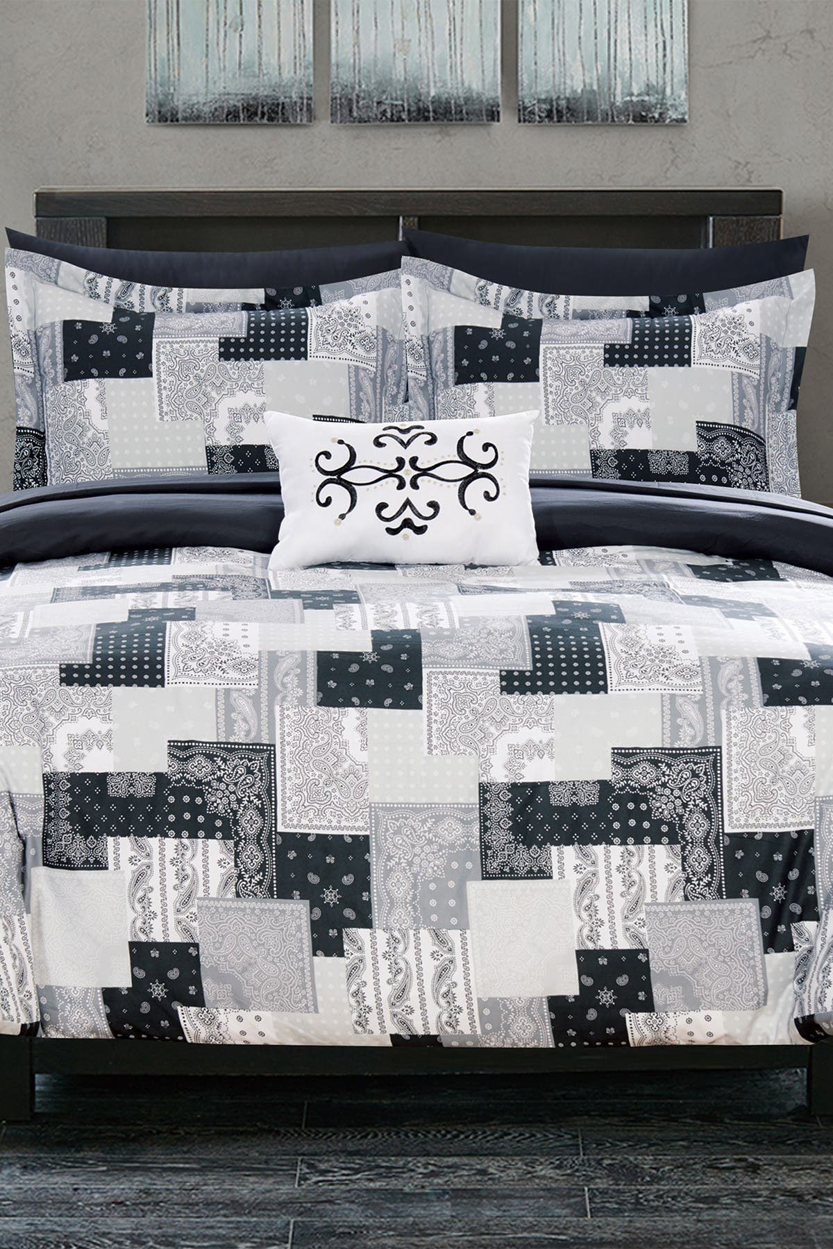 Chic Home Bedding Twin Dei Reversible Bohemian Bed In A Bag Comforter Set Black Nordstrom Rack
