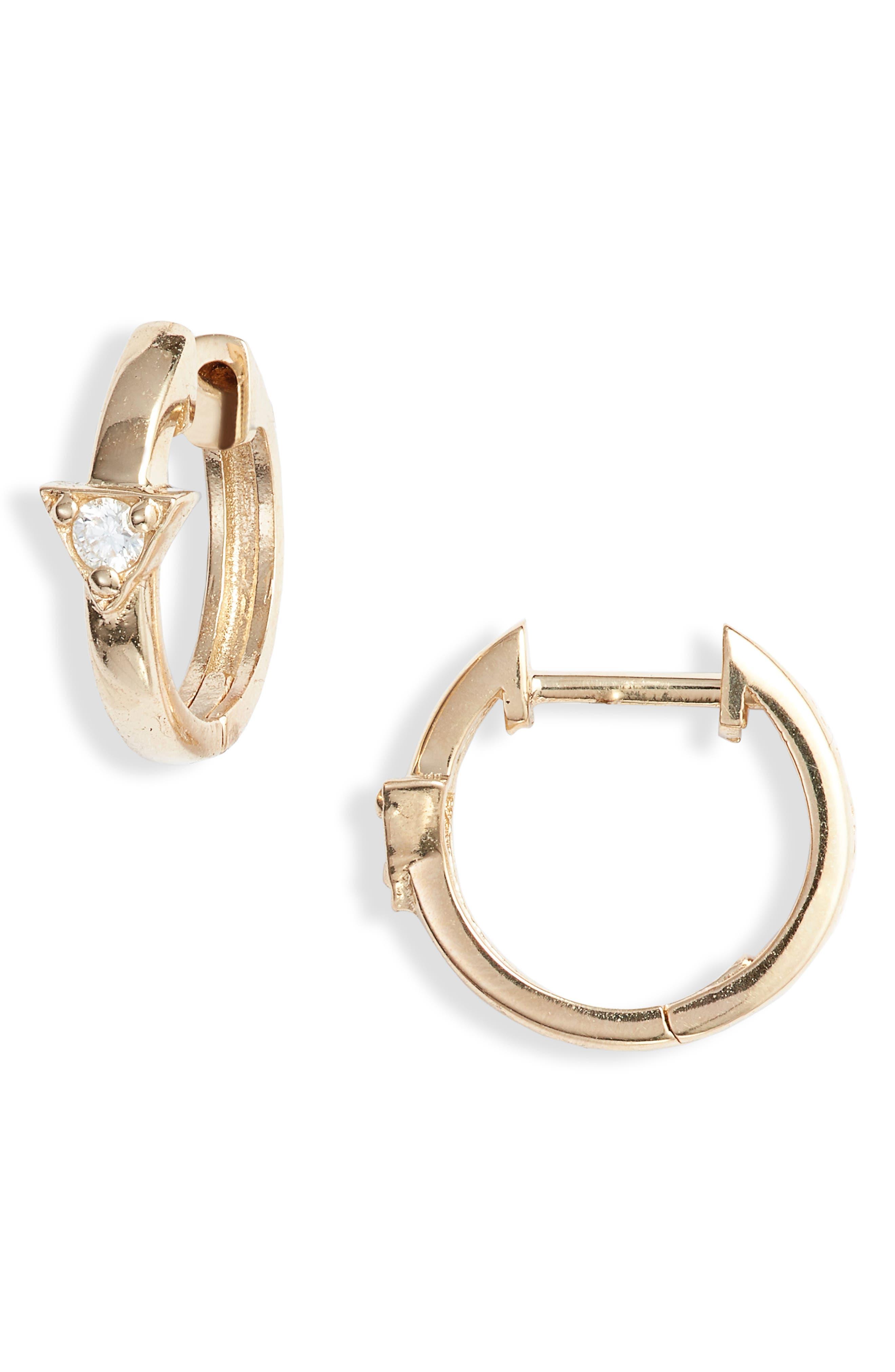 Cleo Diamond Huggie Hoop Earrings