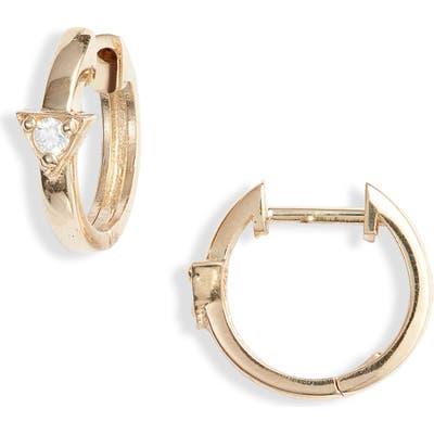 Anzie Cleo Diamond Huggie Hoop Earrings