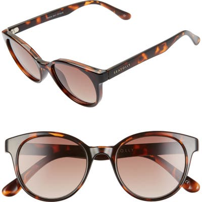Seafolly Fingal Bay 4m Round Cat Eye Sunglasses - Dark Tortoise/ Brown