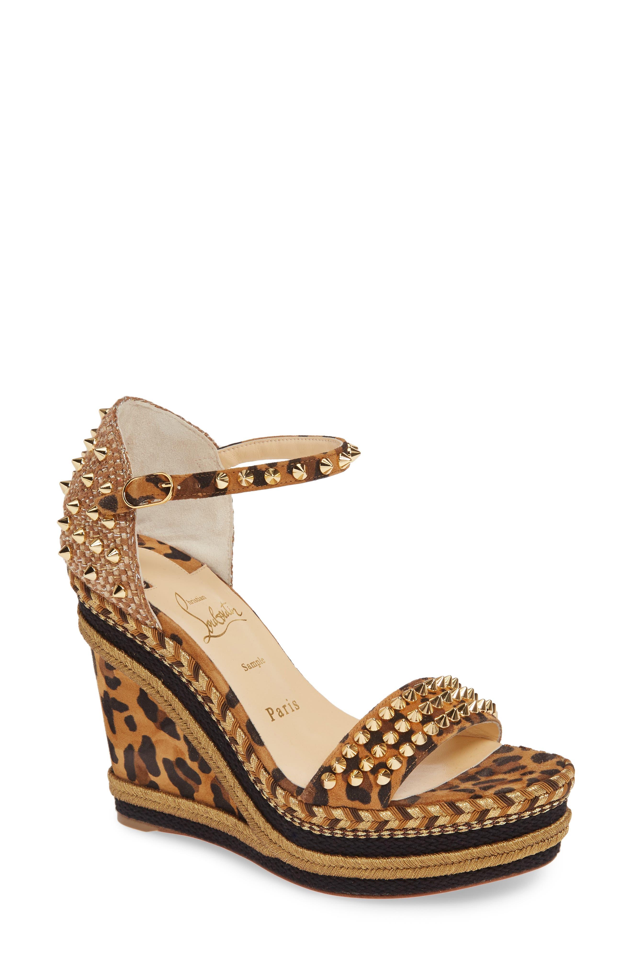Christian Louboutin Madmonica Spike Wedge Sandal (Women)