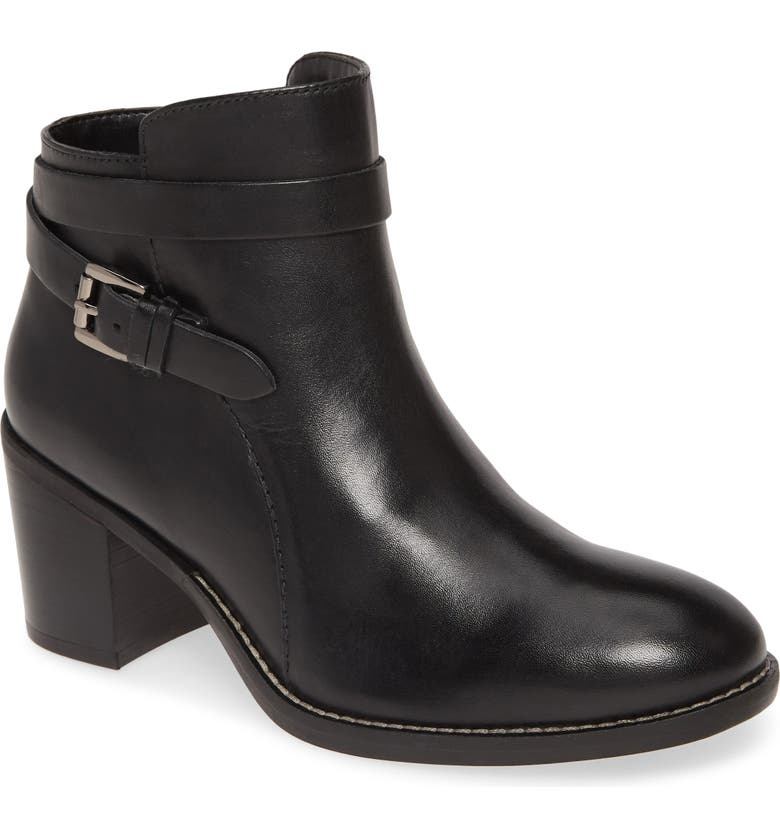 HUSH PUPPIES<SUP>®</SUP> Hannah Bootie, Main, color, BLACK LEATHER