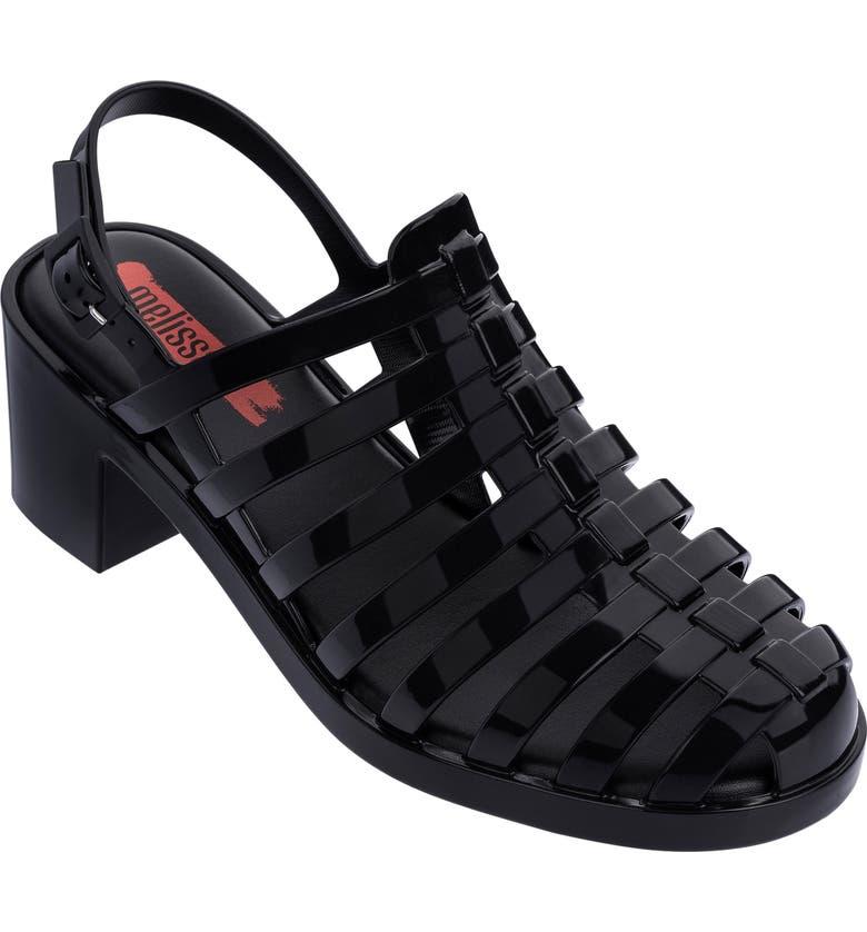 MELISSA Disco Jelly Sandal, Main, color, BLACK