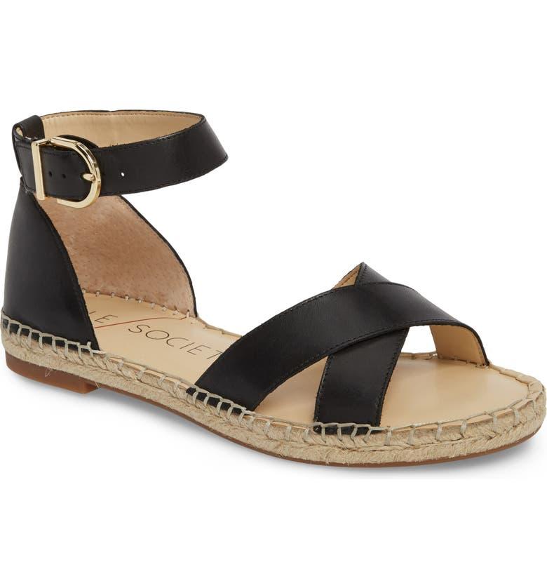 SOLE SOCIETY Saundra Espadrille Sandal, Main, color, 001