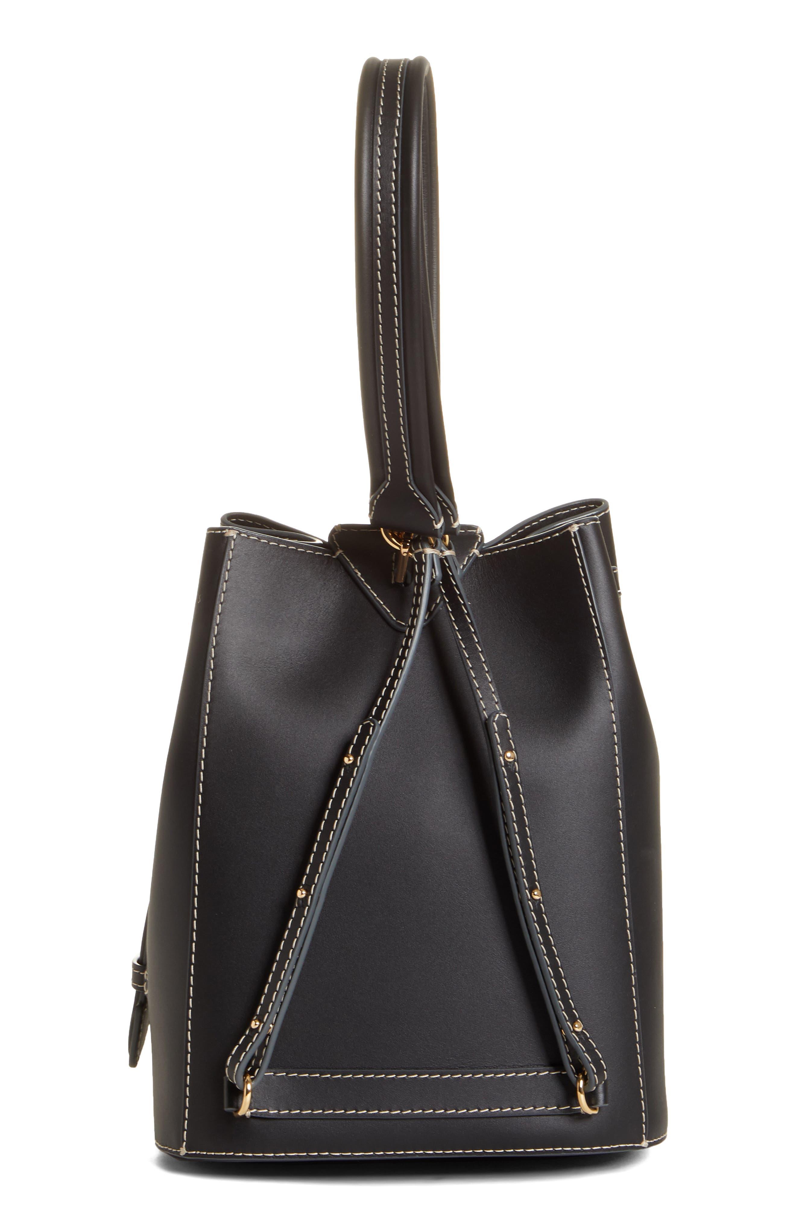 ,                             Jamie Leather Backpack,                             Alternate thumbnail 4, color,                             BLACK