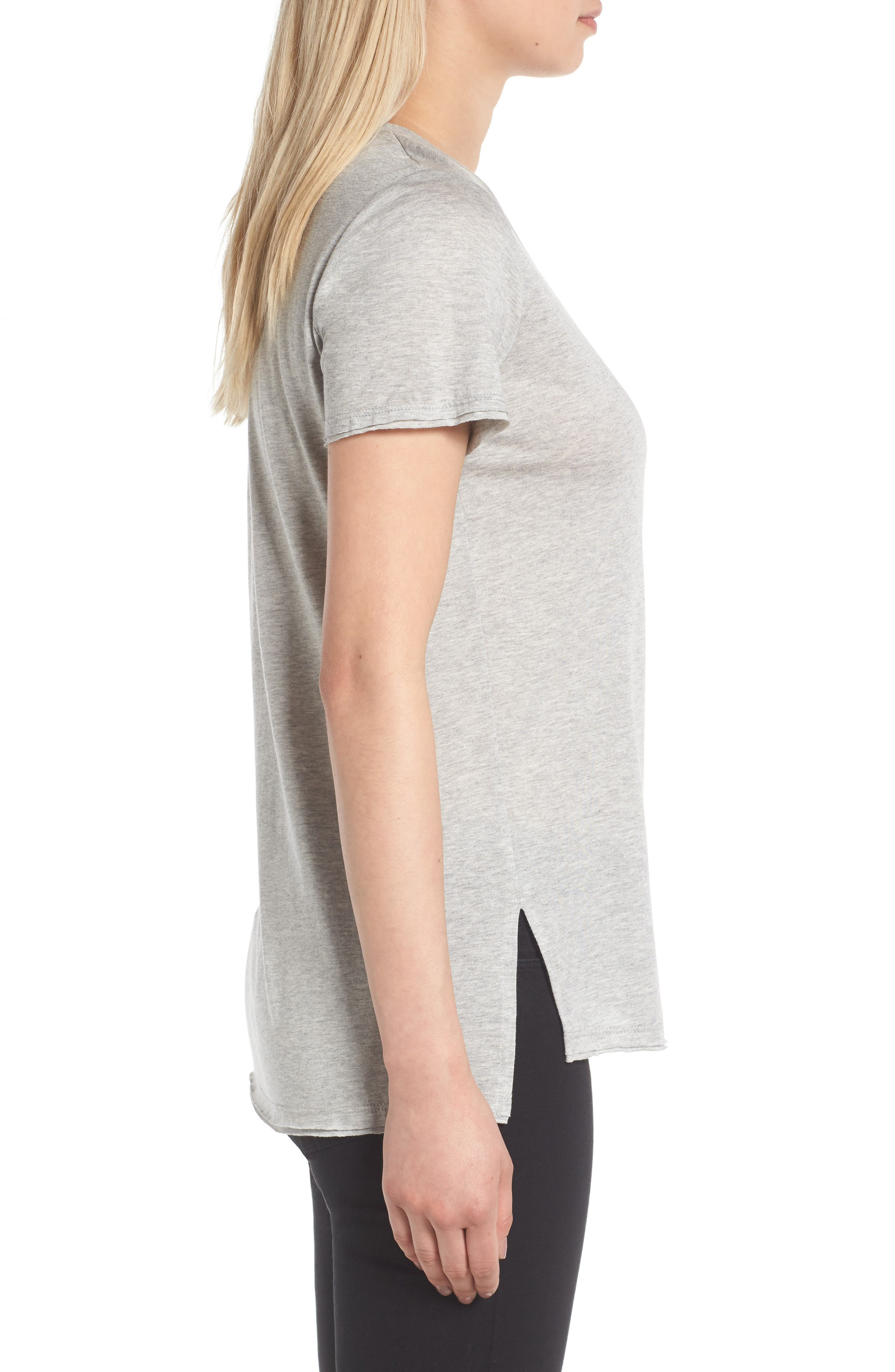 ,                             Raw Edge Side Slit Tee,                             Alternate thumbnail 27, color,                             035