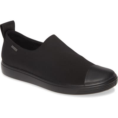 Ecco Soft 7 Gore-Tex Slip-On Sneaker, Black