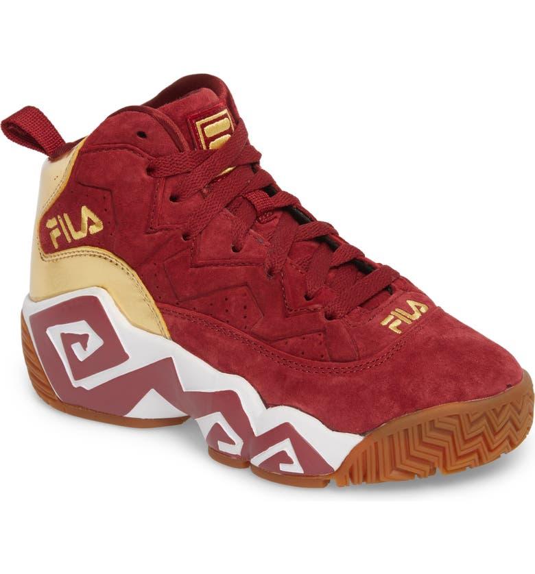 FILA Heritage Sneaker, Main, color, BIKING RED/ GOLD/ WHITE