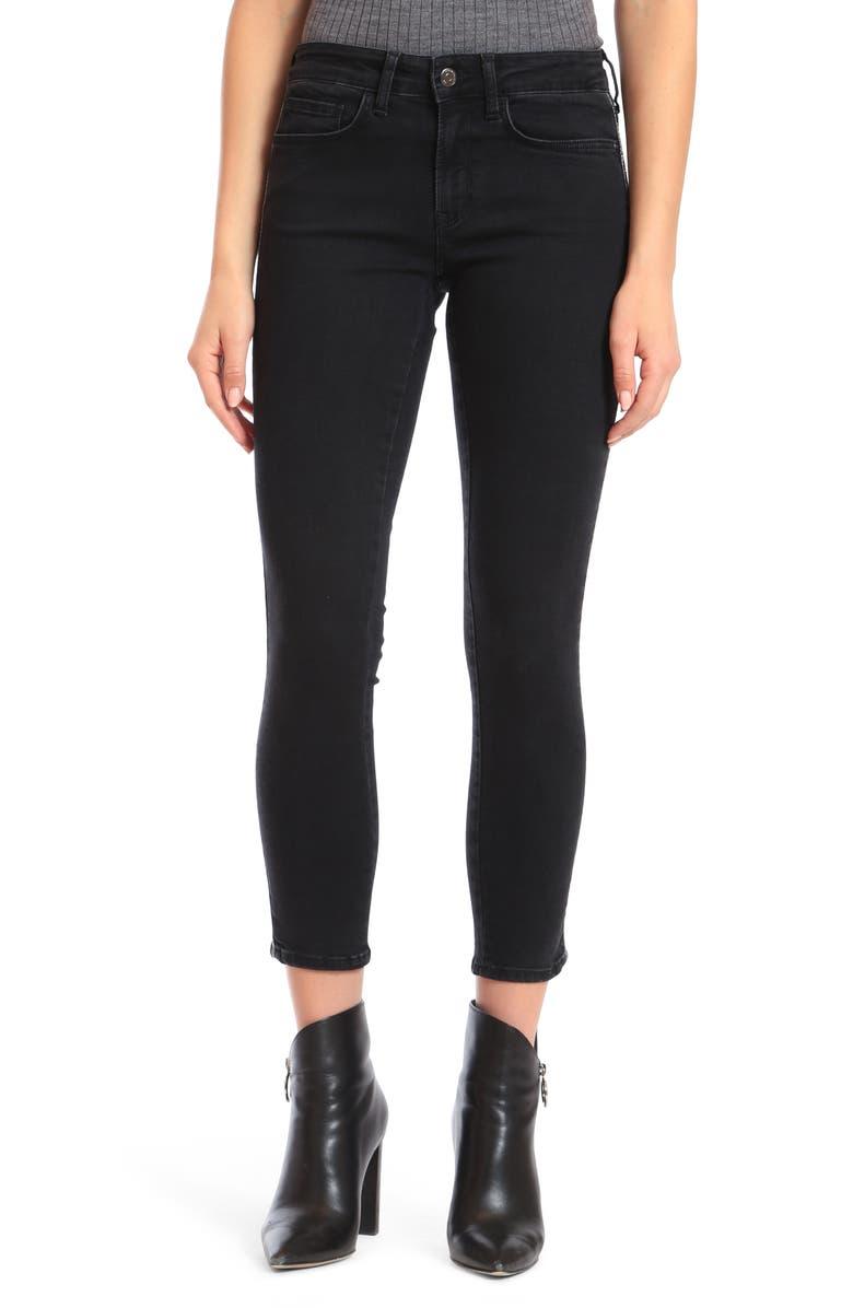 MAVI JEANS Adriana Ankle Skinny Jeans, Main, color, SMOKE EMBELLISHED