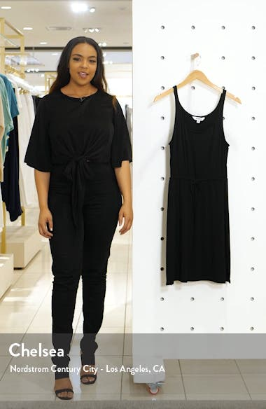 Hit the Streets Drawstring Waist Jersey Dress, sales video thumbnail
