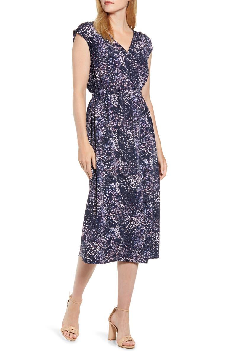 BOBEAU Danielle Surplice Dress, Main, color, ABSTRACT DITSY