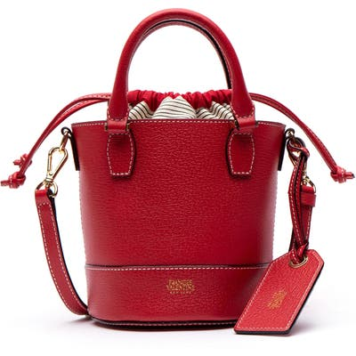 Frances Valentine Small Boarskin Leather Buckle Crossbody Bag - Red