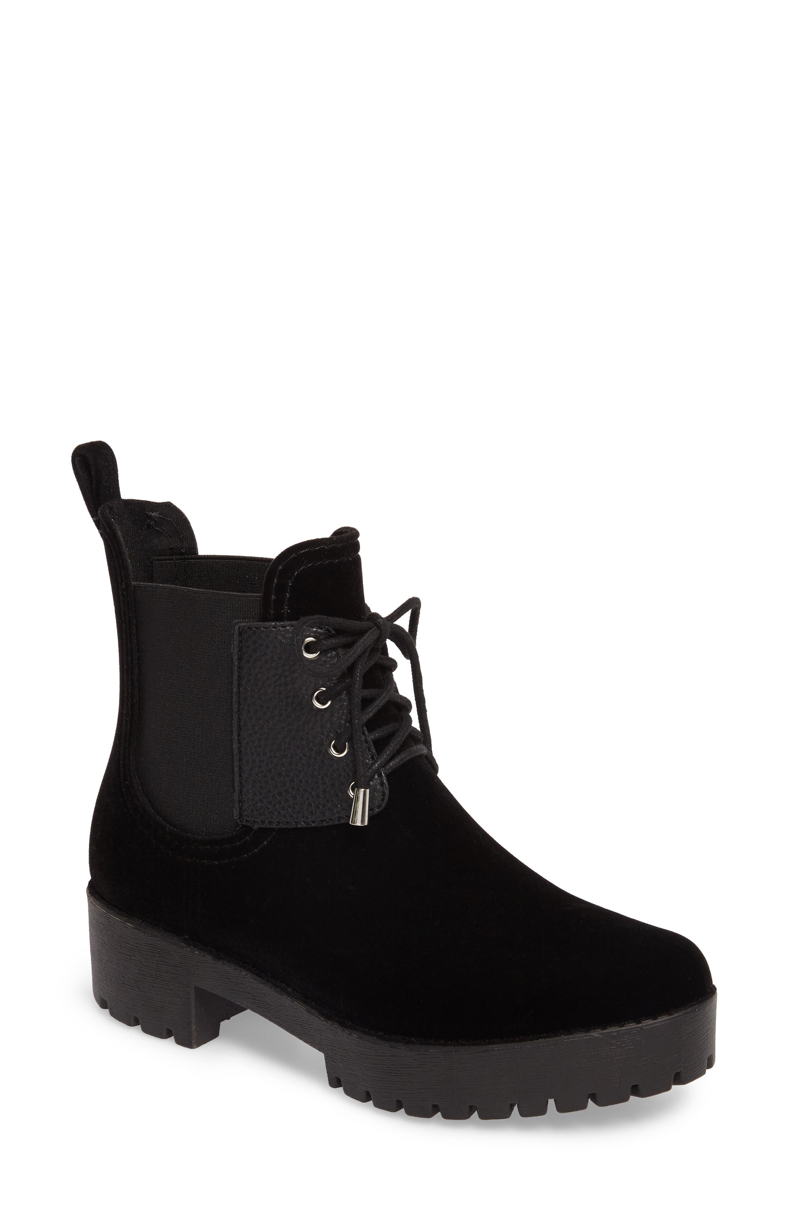Dav Leeds Lace-Up Waterproof Boot, Black