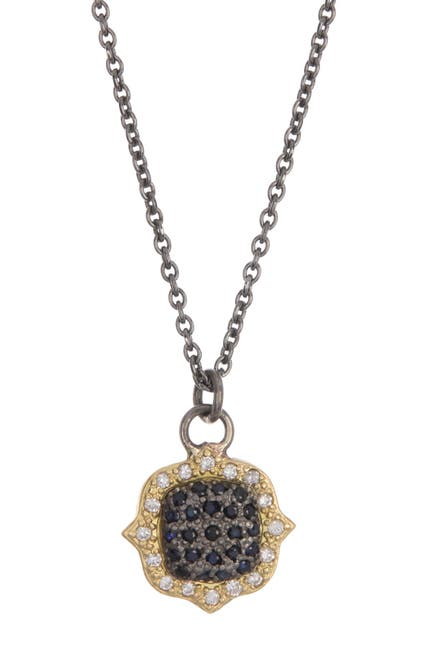Image of ARMENTA Old World Two-Tone Diamond Pave Pendant Necklace