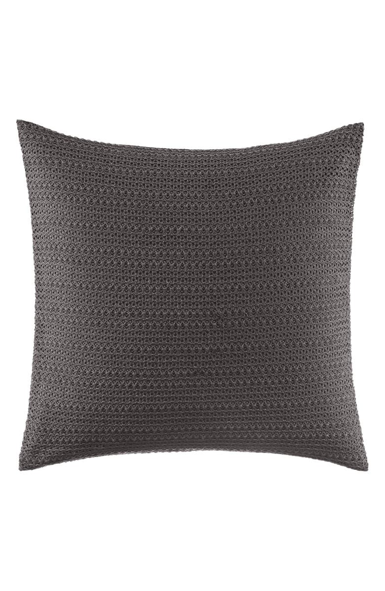 VERA WANG Lace Overlay Accent Pillow, Main, color, GREY