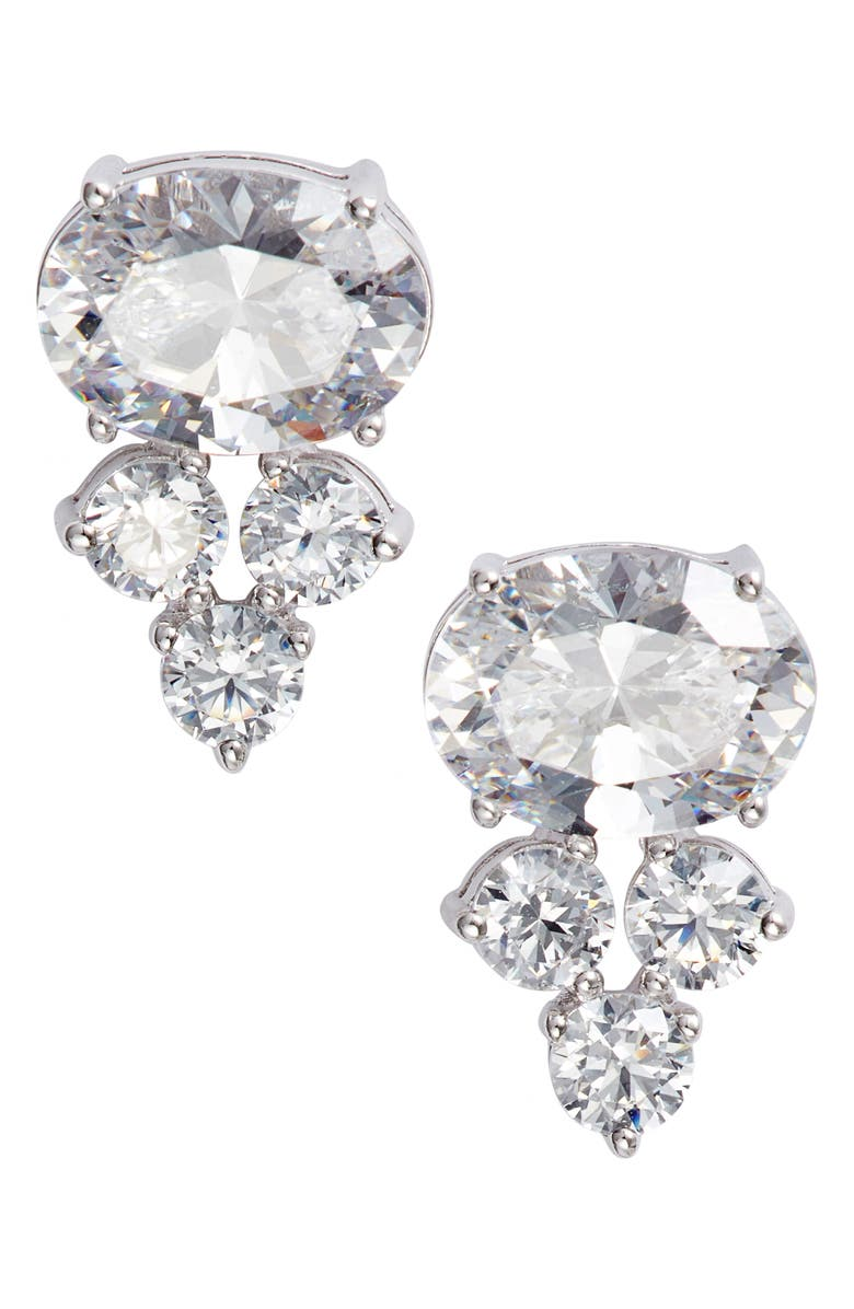 Everlasting Cluster Stud Earrings by Nadri