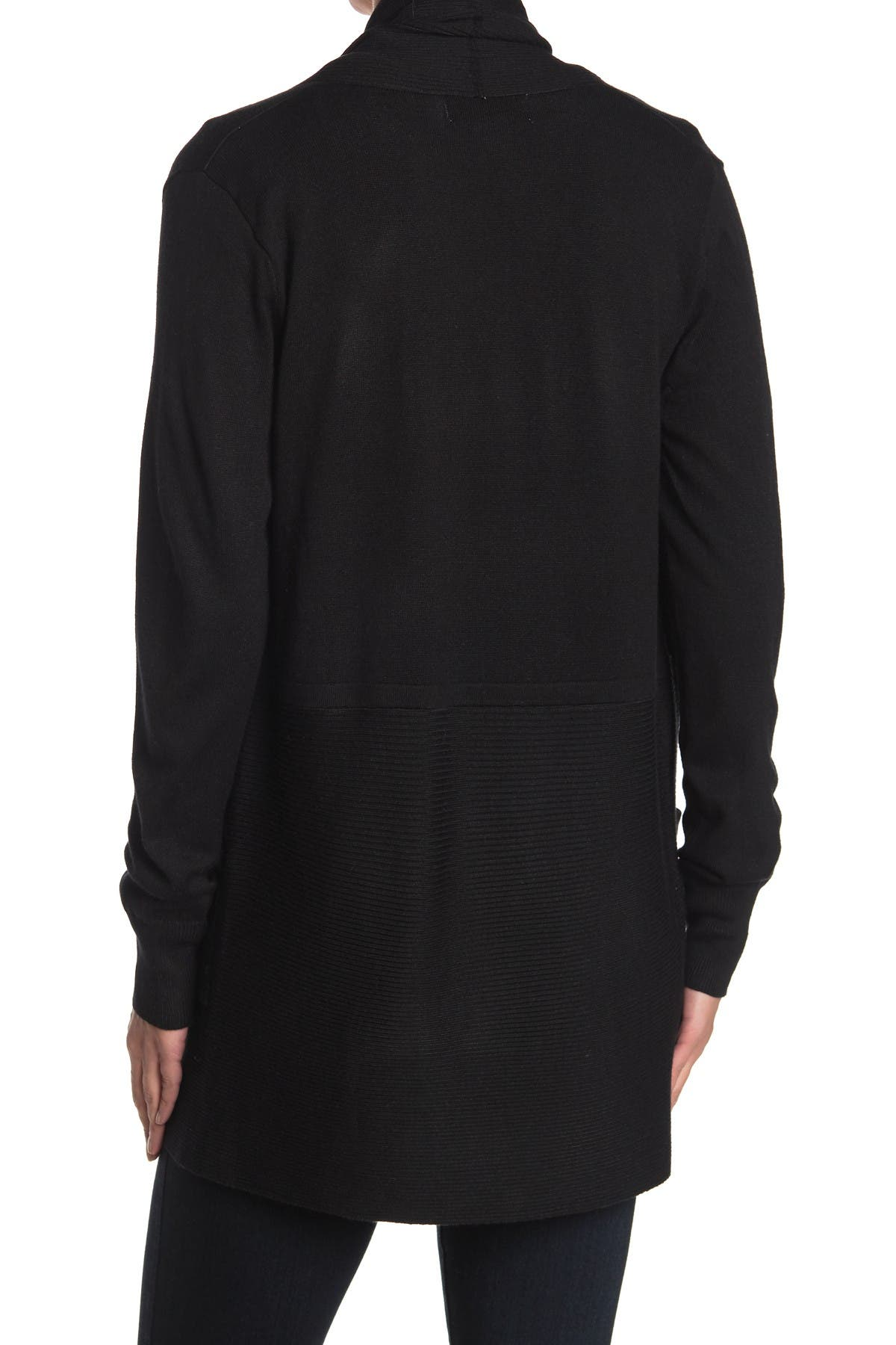 Image of Magaschoni Long Sleeve Open Front Cardigan