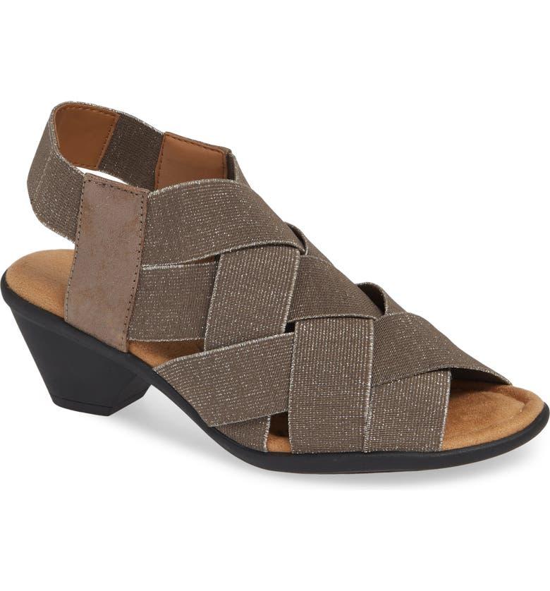 COMFORTIVA Farrow Woven Slingback Sandal, Main, color, SMOKE NUBUCK LEATHER