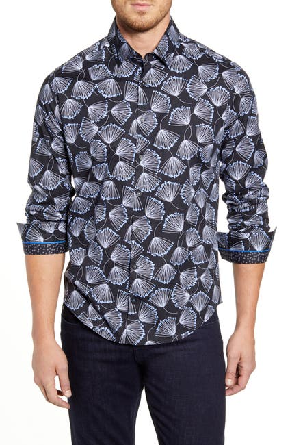 Image of Stone Rose Seed Print Regular Fit Shirt