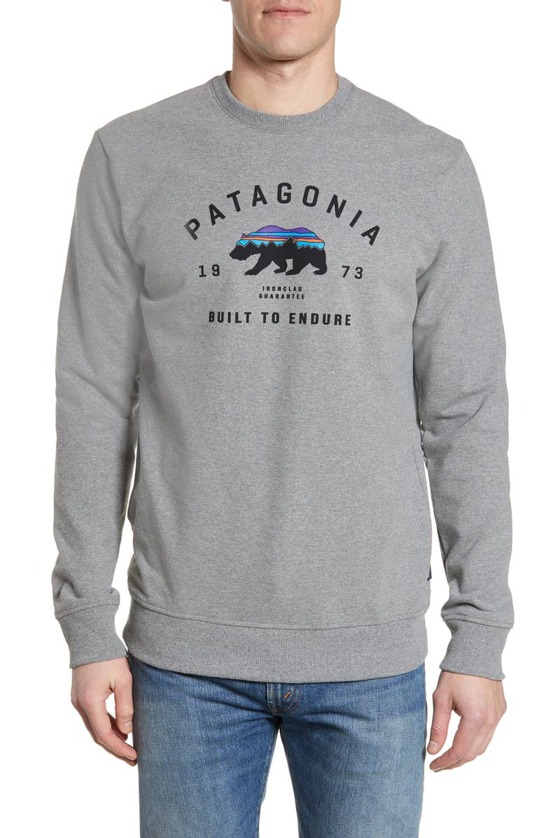 a9d290e0 Fitz Roy Bear Uprisal Sweatshirt, Main, color, GRAVEL HEATHER